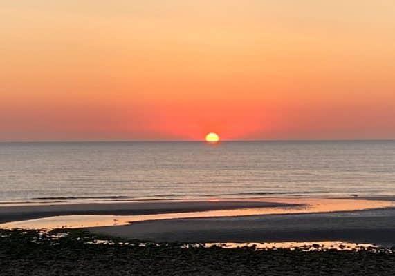 Coucher de soleil sur la plage de Wimereux