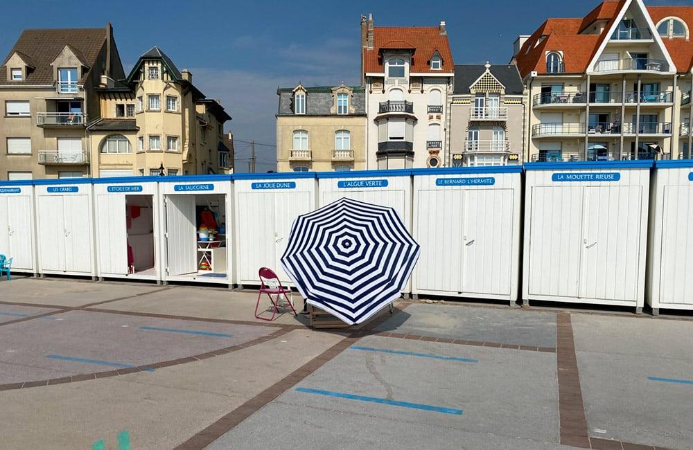 Cabines de plage à louer à Wimereux