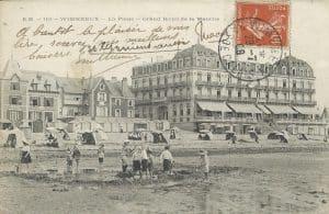 Carte postale du grand hôtel de Wimereux