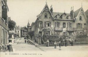 Avenue Louis Gallet à Wimereux en début du 20ème siècle