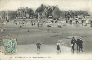Wimereux, sa plage et ses villas en noir et blanc