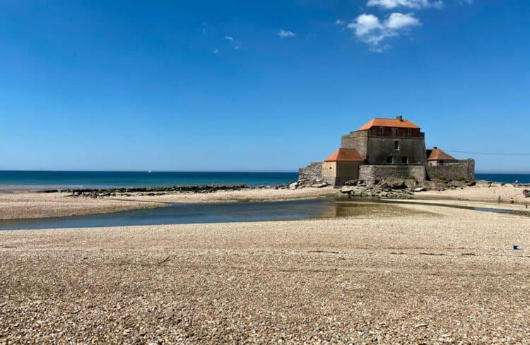 Fort d'Ambleteuse à marée basse